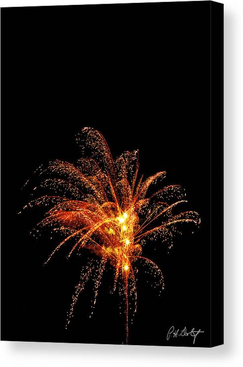 July 4th Canvas Print featuring the photograph Red Splash by Phill Doherty