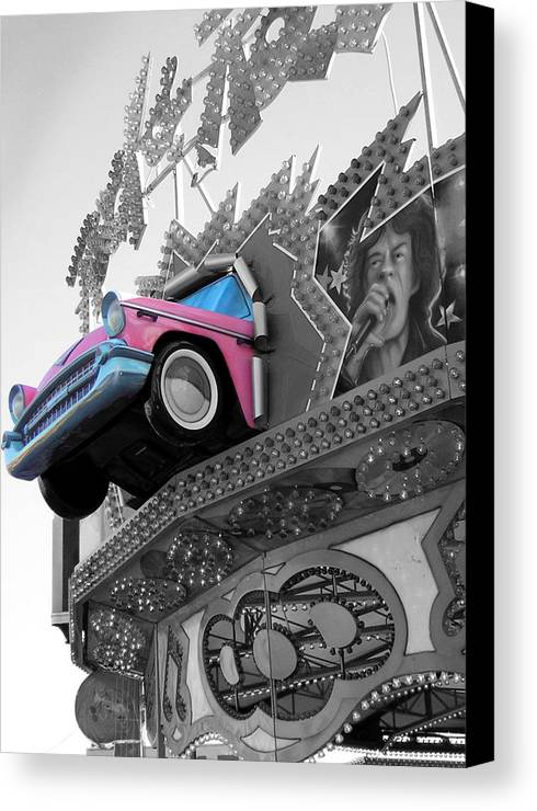 Amusement Park Canvas Print featuring the photograph Rock N Roll by Heather Weikel