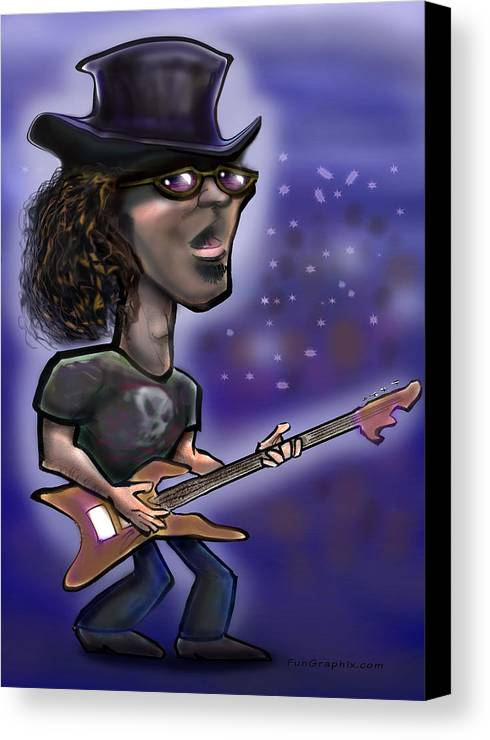Rock Canvas Print featuring the painting Rockstar by Kevin Middleton