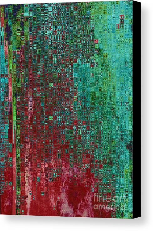 Abstract Canvas Print featuring the digital art Rust Abstract by Carol Groenen