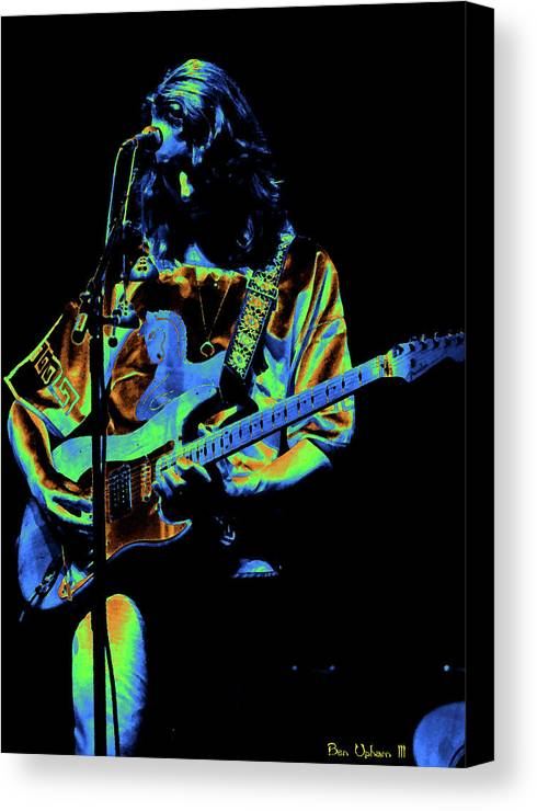 Classic Rock Canvas Print featuring the photograph S#37 Enhanced In Cosmicolors by Ben Upham