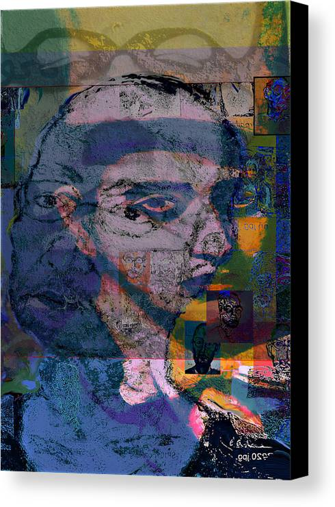 Portrait Canvas Print featuring the painting Search by Noredin Morgan
