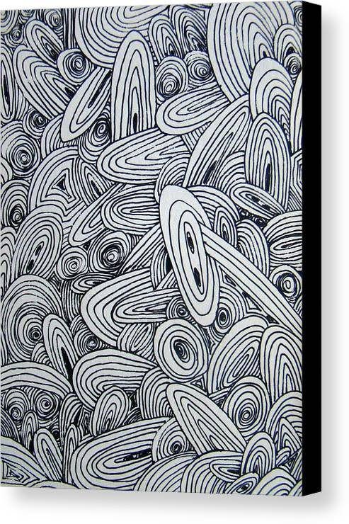 Abstract Canvas Print featuring the drawing See Study Six by Ana Villaronga