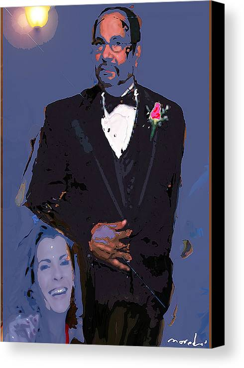 Human Compostion Canvas Print featuring the digital art Self Portrait 2408 by Noredin Morgan