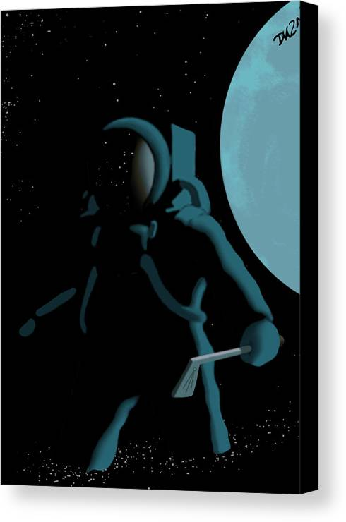 Dkzn Canvas Print featuring the digital art Shepard In The Rough by Tom Dickson