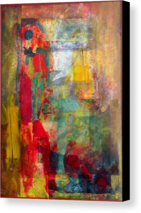 Abstract Canvas Print featuring the painting Shoot The Moon by John Vandebrooke