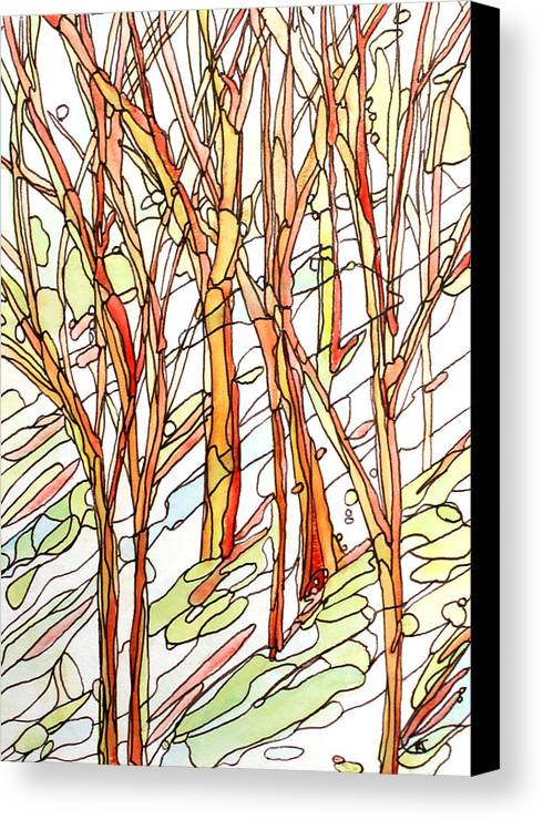 Forest Canvas Print featuring the painting Snow Forest #1 by Katie Ree