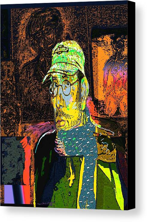 Self Portrait Canvas Print featuring the painting Sp 2006 by Noredin Morgan