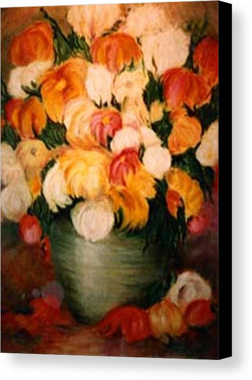 Flowers Canvas Print featuring the painting Spring Bouquet by Jordana Sands