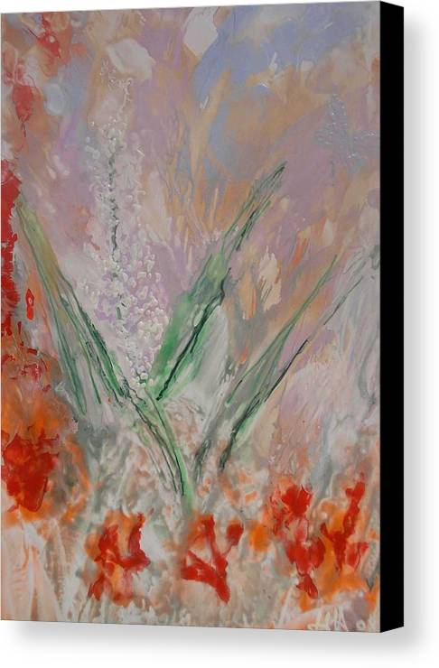 Canvas Print featuring the painting Summer by Heather Hennick