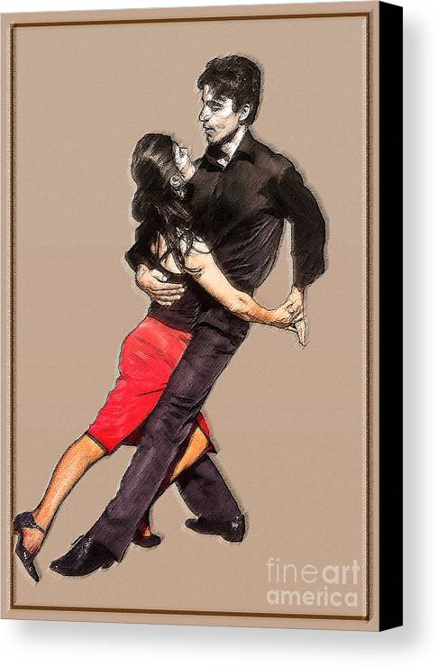 Dance Canvas Print featuring the photograph Tango by Linda Parker