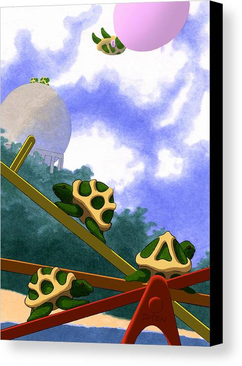 Dkzn Canvas Print featuring the digital art Teeter by Tom Dickson