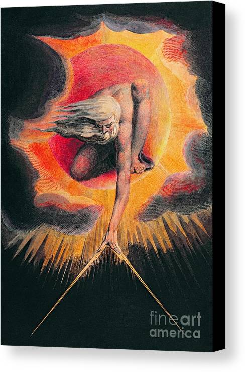 The Canvas Print featuring the painting The Ancient Of Days by William Blake