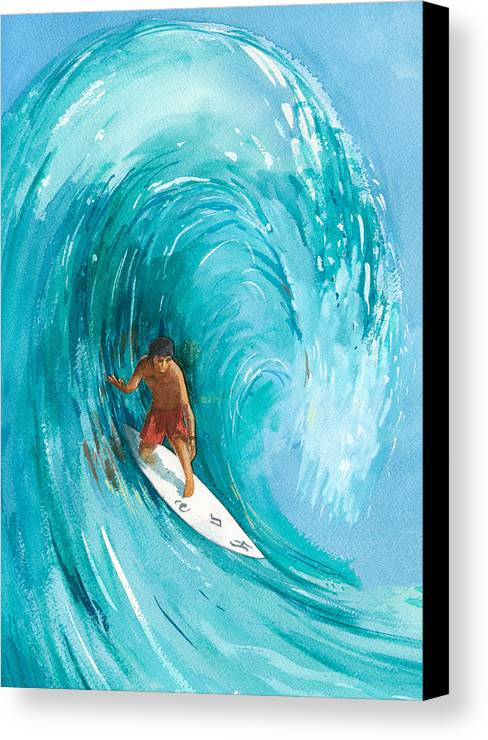 Big Wave Canvas Print featuring the painting The Big One by Ray Cole