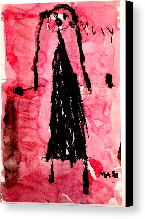 Abstract Canvas Print featuring the mixed media The Bride by Alfred Resteghini
