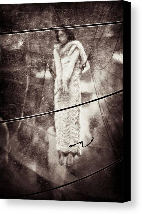 Girl Canvas Print featuring the photograph The Girl In The Bubble by Dave Bowman