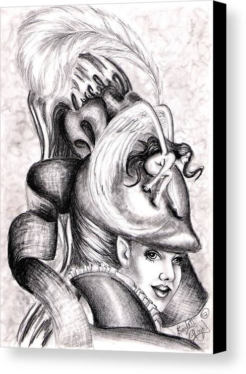 Fantasy Canvas Print featuring the drawing The Hat by Scarlett Royal