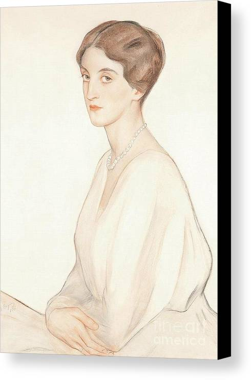 The Imperial Princess Nadezda Petrovna Romanova Of Russia Canvas Print featuring the painting The Imperial Princess Nadezda by MotionAge Designs