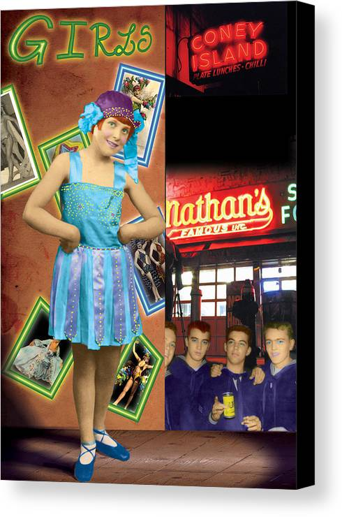 Hoochie Coochie Dance Canvas Print featuring the painting The Promise Of The Hoochi Coochie Showman's Daughter by Max Scratchmann