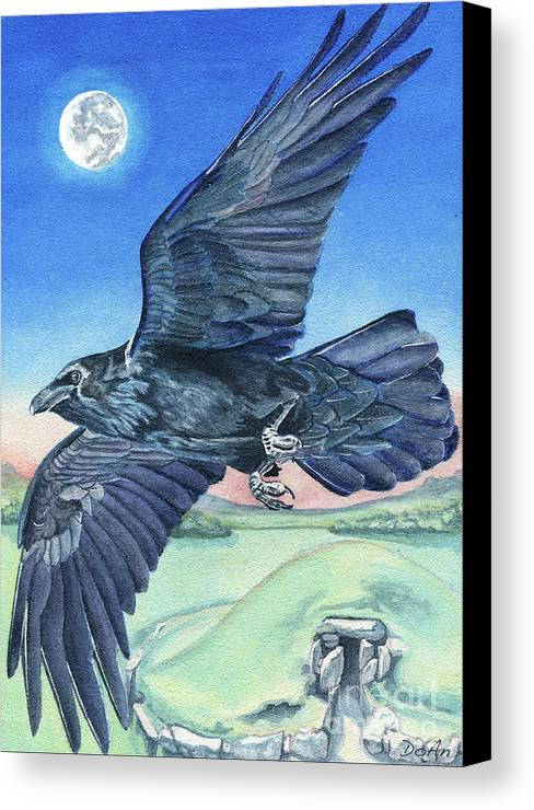 Raven Canvas Print featuring the painting The Raven by Antony Galbraith