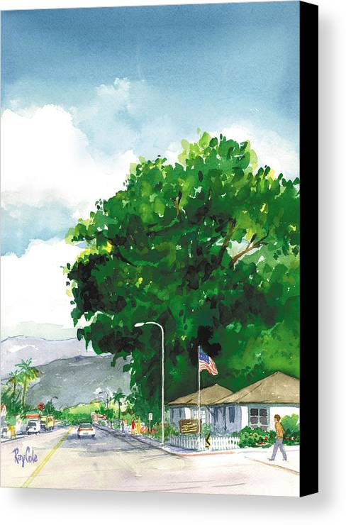 Historic Landmark Canvas Print featuring the painting Torrey Pine by Ray Cole