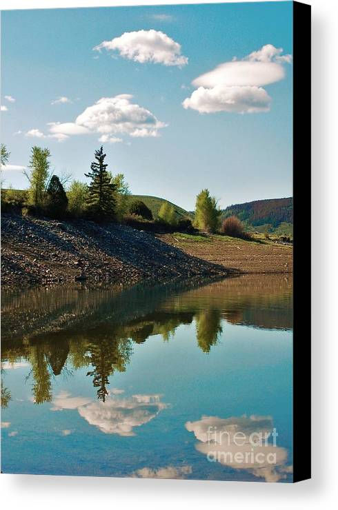 Lake Canvas Print featuring the photograph Tranquility by Jessica Wallace