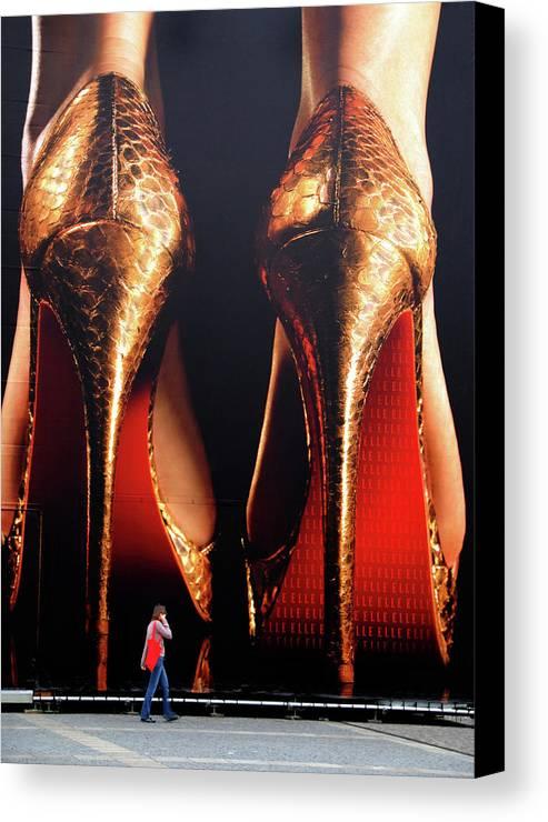 Stan Lipski Photography Canvas Print featuring the photograph Very High Heels by Stan Lipski