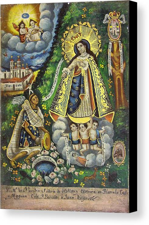 Religion Canvas Print featuring the painting Virgen De Ocotlan by Unknown