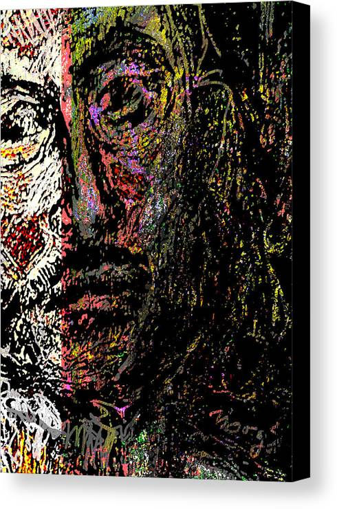 Self Portrait Canvas Print featuring the painting Warrior Of Love by Noredin Morgan