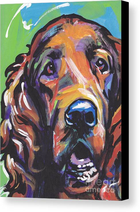 Irish Setter Canvas Print featuring the painting When Irish Eyes Are Smiling by Lea S