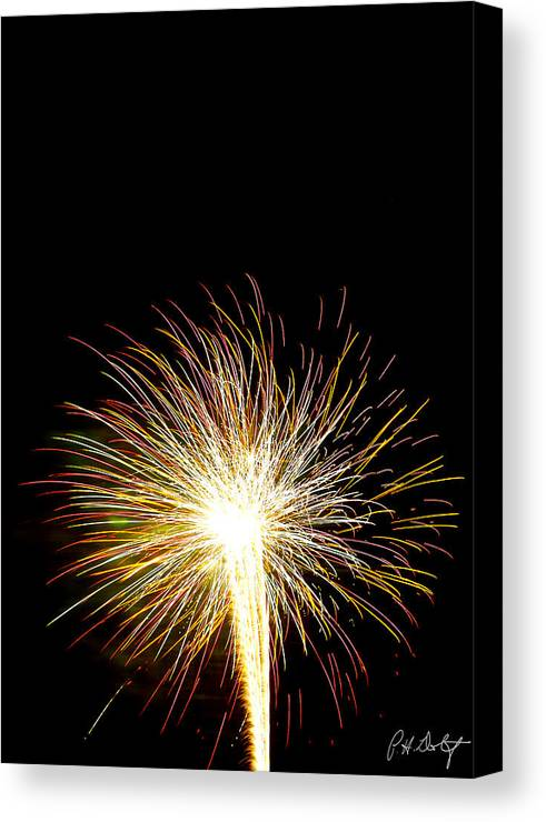 July 4th Canvas Print featuring the photograph White Hot by Phill Doherty