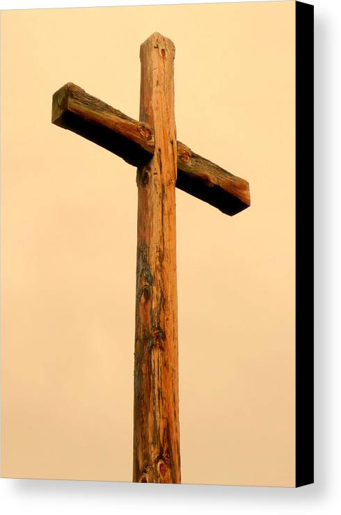 Cindy Canvas Print featuring the photograph Wooden Cross by Cindy Wright