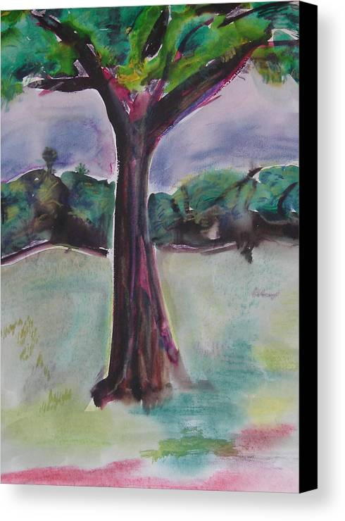 Tree Canvas Print featuring the painting Wounded Tree by Rima Bidkar