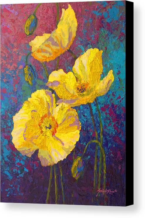 Yellow Poppies Canvas Print Canvas Art By Marion Rose