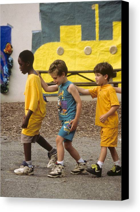 Boys Canvas Print featuring the photograph Yellow Submarine by Laurie Paci