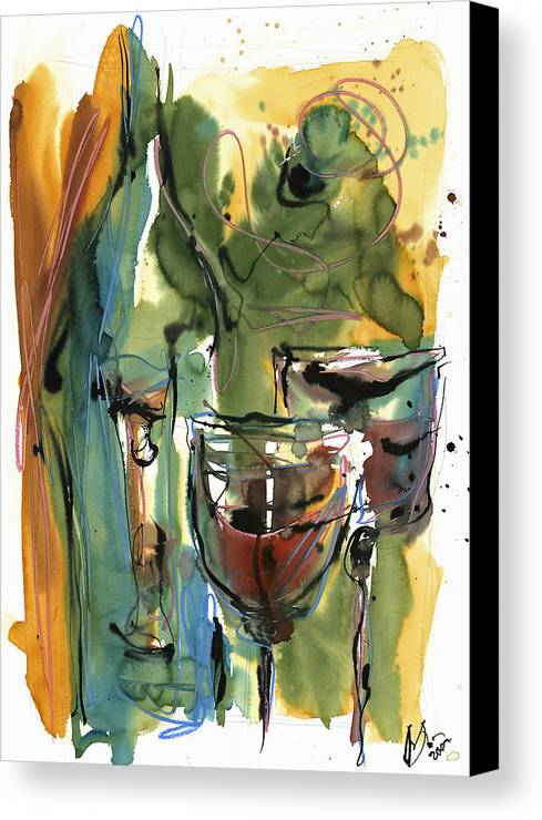 Wine Canvas Print featuring the painting Zin-findel by Robert Joyner