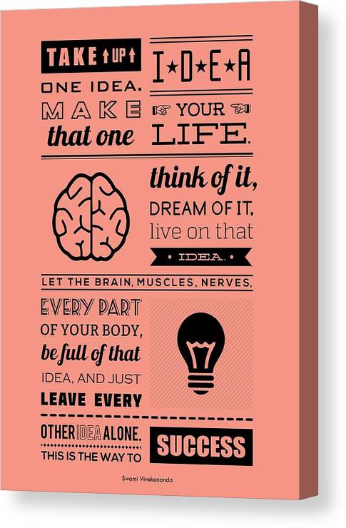 Success Inspirational Quotes Poster Canvas Print Canvas Art By Lab