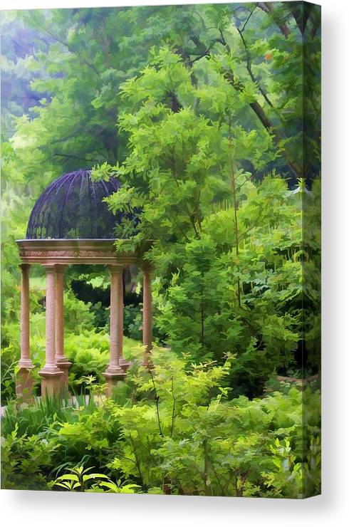 Nature Canvas Print featuring the photograph Gazebo by Joyce Baldassarre