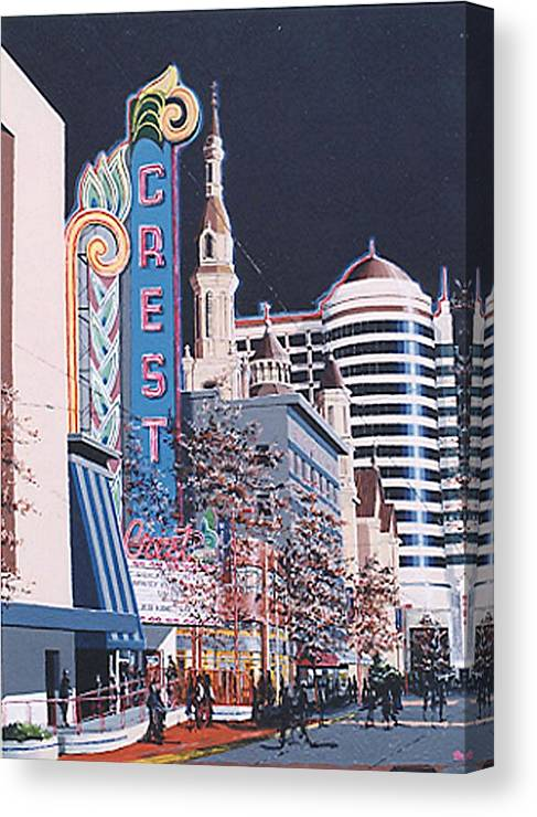 Sacramento Canvas Print featuring the painting The Crest by Paul Guyer