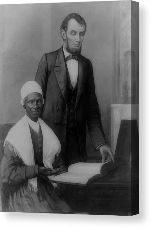 Canvas Lincoln Tech >> Abraham Lincoln And Sojourner Truth Canvas Print Canvas Art By Unknown