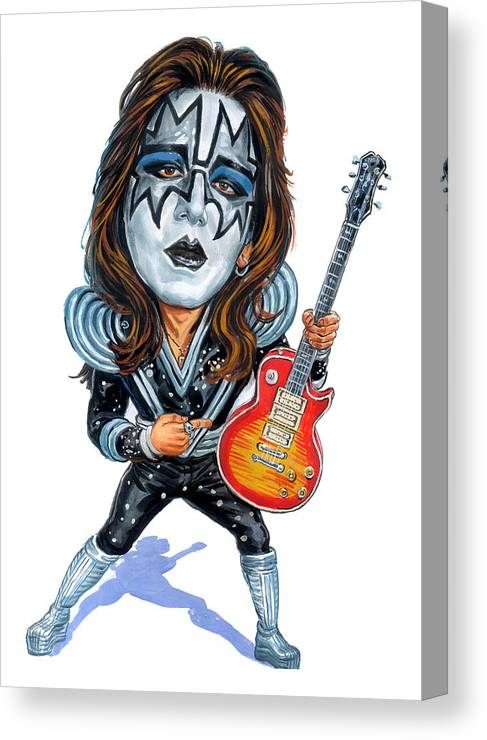 Ace Frehley Canvas Print featuring the painting Ace Frehley by Art