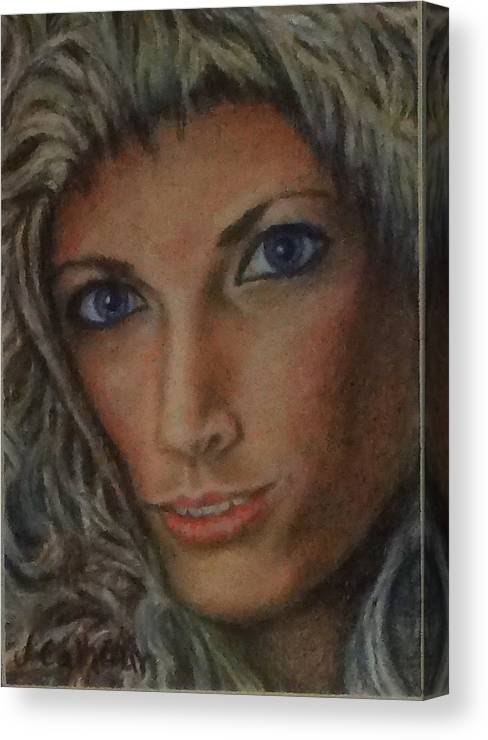 Paintings Canvas Print featuring the painting Andrea by Jennifer Calhoun
