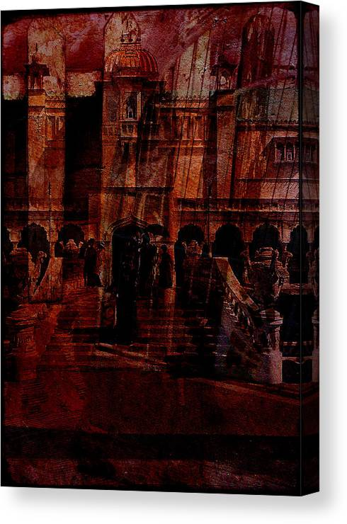 Architectural Oddity Canvas Print featuring the digital art Architectural Oddity by Sarah Vernon