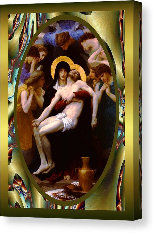 Wlliam-adolphe Bougereau Canvas Print featuring the photograph Bougereau Vintage Jesus by Robert Kernodle