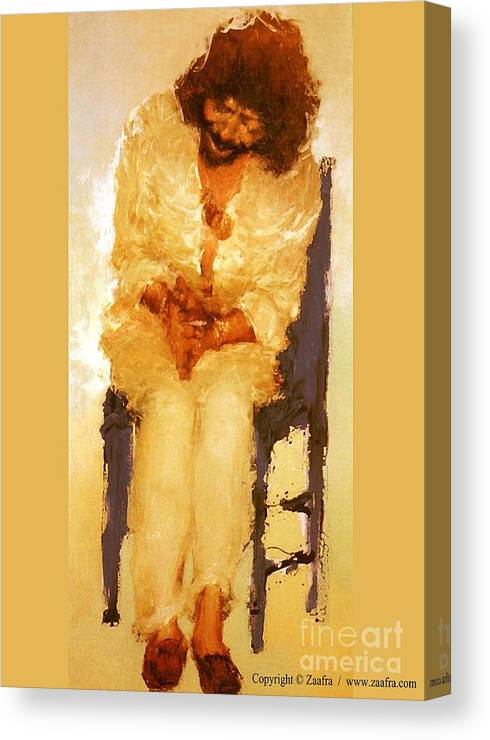 Flamenco Canvas Print featuring the painting Camaron II by Zaafra David