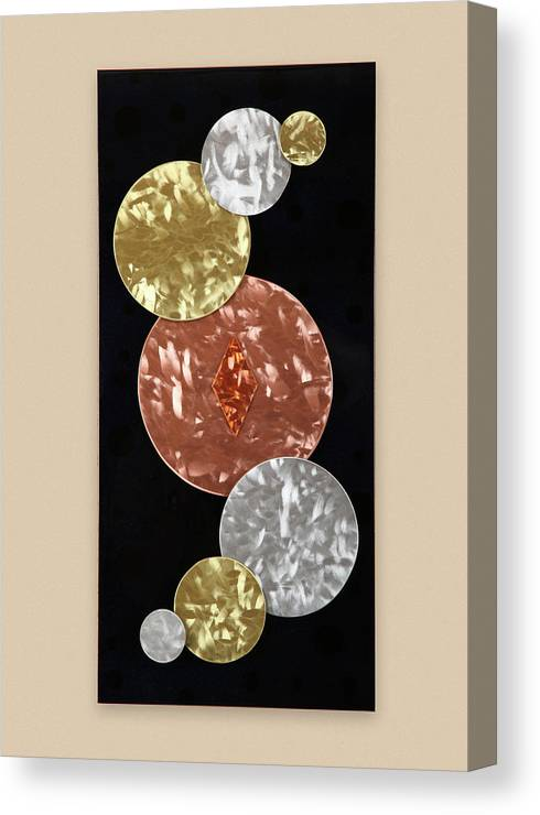 Abstract Canvas Print featuring the sculpture Facets by Rick Roth