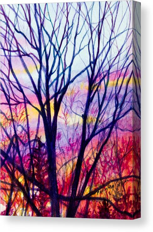 Tree Canvas Print featuring the painting Maple Tree Sunset by Patricia Allingham Carlson