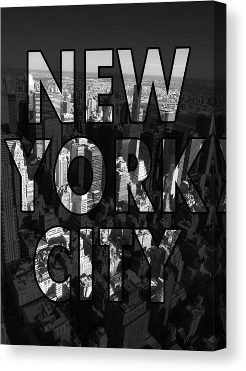 New York Canvas Print featuring the photograph New York City - Black by Nicklas Gustafsson