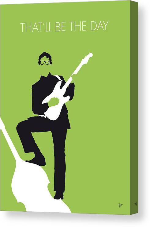 Buddy Canvas Print featuring the digital art No056 My Buddy Holly Minimal Music Poster by Chungkong Art