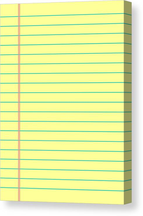Notebook Paper Background Yellow Lined Paper Canvas Print Canvas